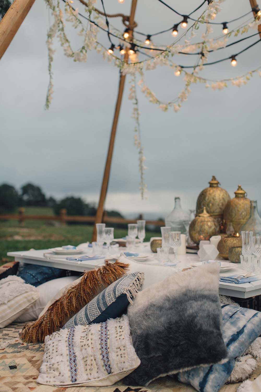 At Dusk Tweed Hinterland Styled Shoot Bramblewood Farm   The Events Lounge - Gold Coast Wedding Planner and Stylist - www.theeventslounge.com.au