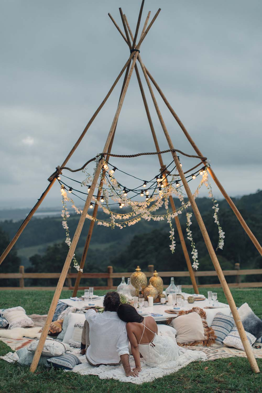 At Dusk Tweed Hinterland Styled Shoot Bramblewood Farm | The Events Lounge - Gold Coast Wedding Planner and Stylist - www.theeventslounge.com.au