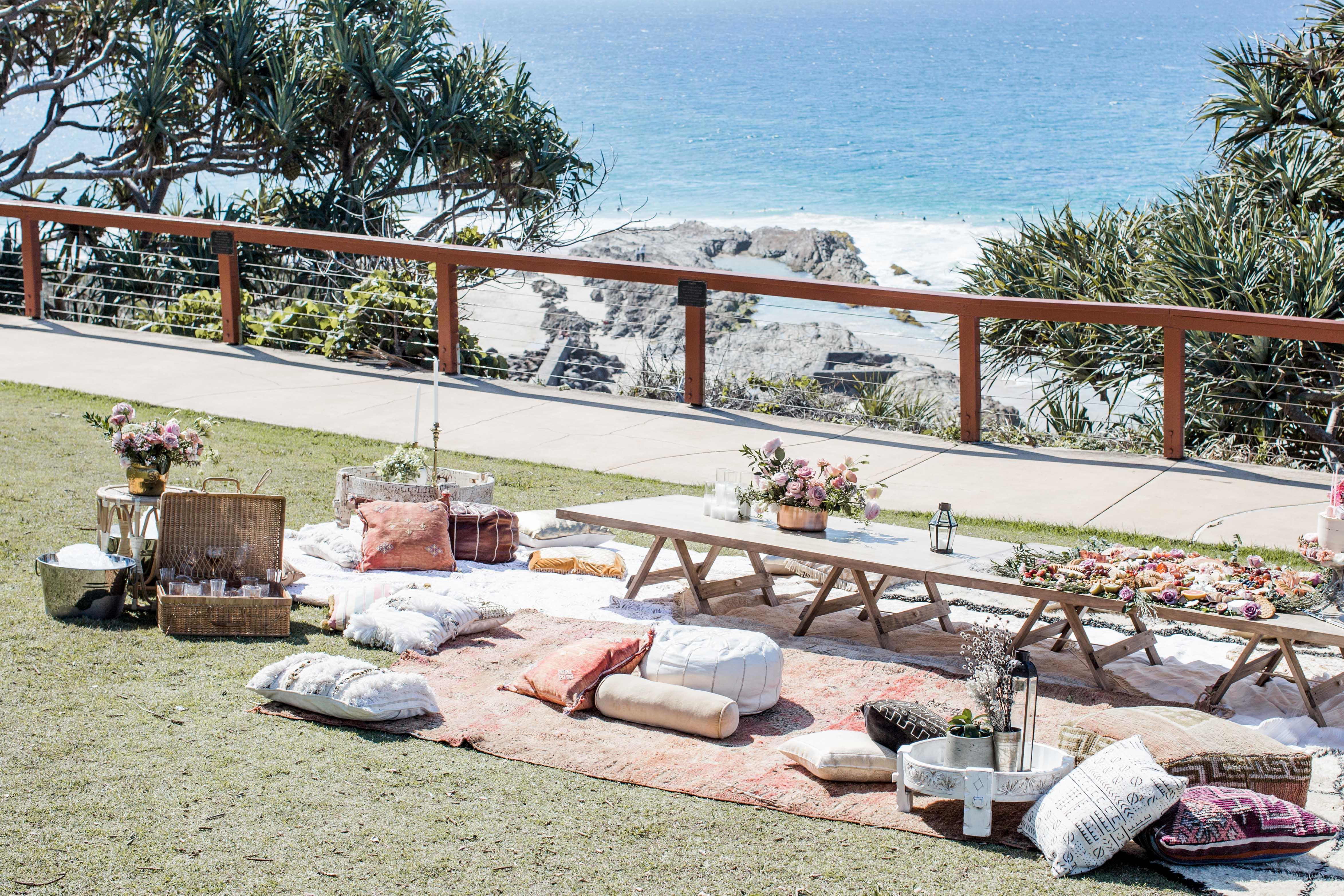 Seaside Picnic: Celeste Barber, 40th Birthday Celebration | The Events Lounge, Gold Coast Event Planner & Stylist